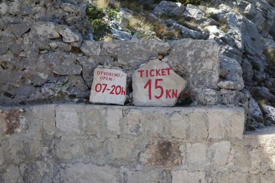 Omis, Croatia: Pricing and opening hours