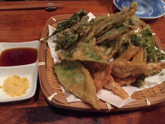 Mori no Kenja: 地野菜の天ぷら