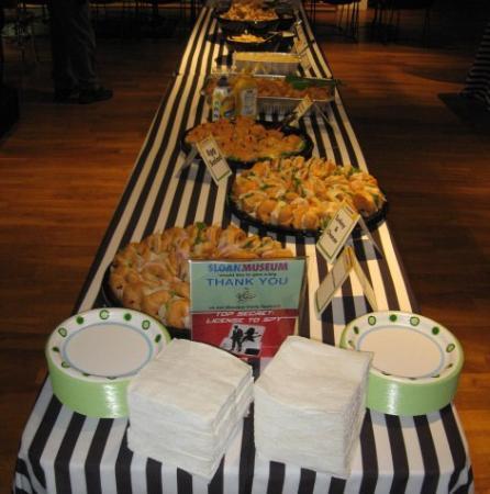 "Sloan Museum: Food at ""Members Only"" parties"