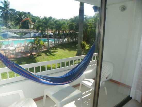 Hotel Hacienda El Diamante: Vista desde el balcón de la habitación