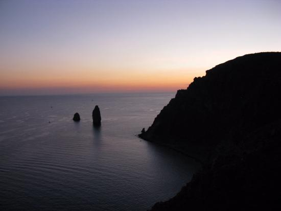 Canneto di Lipari, Italie : vista panoramica
