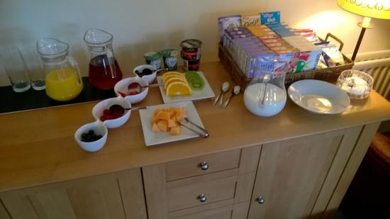 Exmoor Country House : Pre-breakfast cold selection - incredible