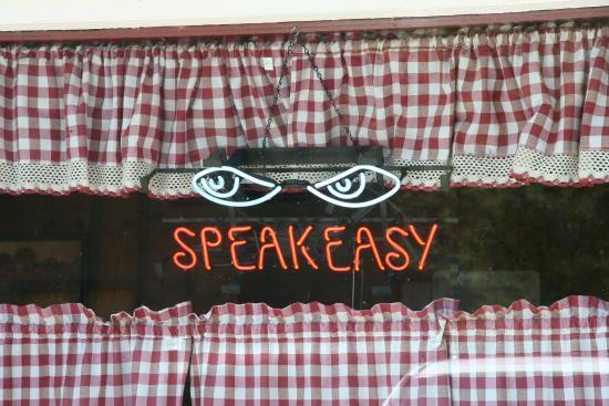 Lucy's Cafe: Is this a Speak Easy?