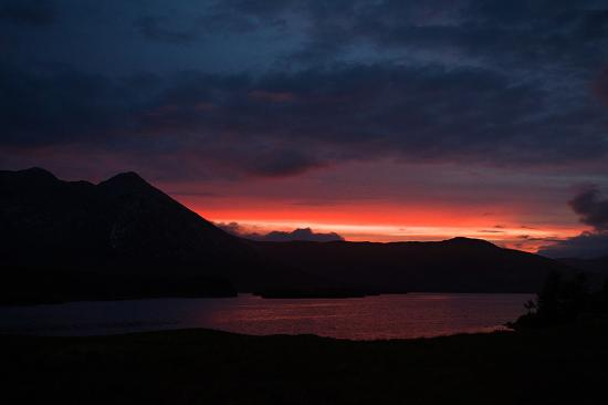 Sunset near Lough Inagh Lodge
