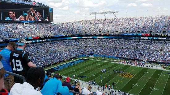 The Bank of America Stadium: View from Section 539, looking left.