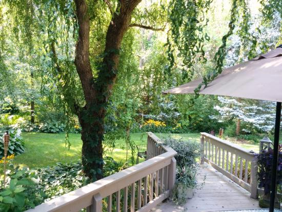 Applewood Hollow Bed and Breakfast: Deck view