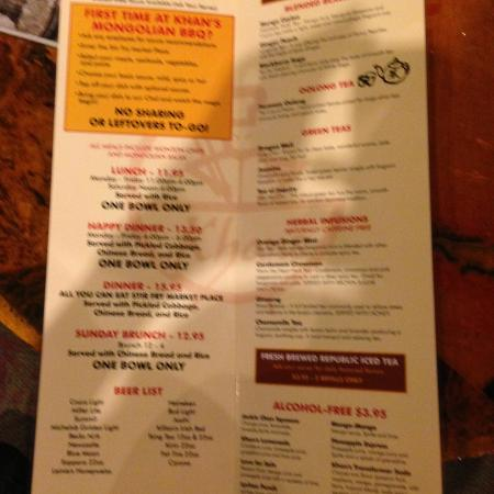 khans mongolian barbeque coupons