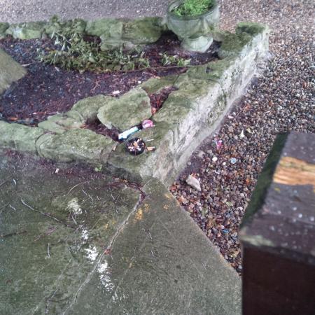 East Ayton, UK: Cigarette ends yuk!