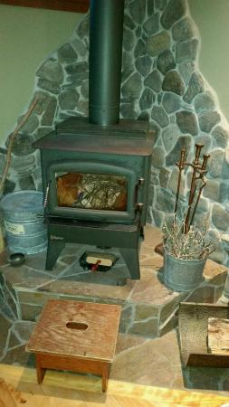 Redwood Croft: Our fireplace in the East room