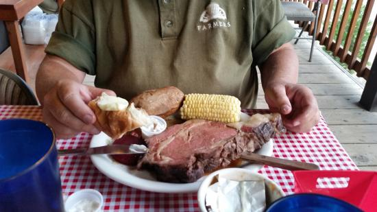 Kennedy Meadows Resort & Pack Station: Prime Rib dinner.