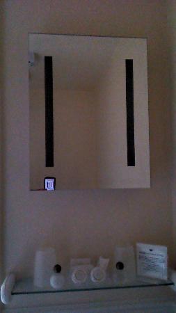 Brandon Lodge: Vanity area of shower room (interior house room) with toiletries