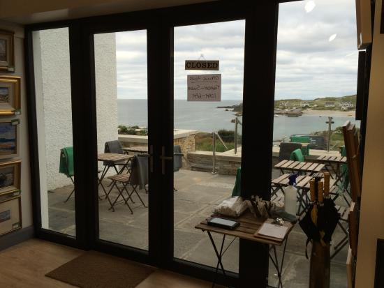 Portnablagh, Irlanda: View onto the terrace