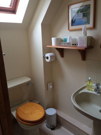 Bathroom with miniature toiletries