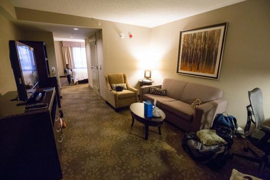 Hilton Garden Inn Toronto / Brampton: Living Area with TV and Sofabed
