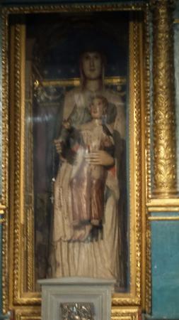 Pieve di Sant'Andrea a Cercina : Statua ligna Madonna con Bambino