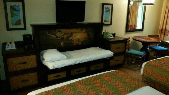 Disneys Caribbean Beach Resort Very Nice Refurbished Rooms Loved The Murphy Bed And Sliding