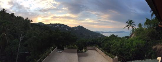 Samui Mountain Village: View from our terrace, due north