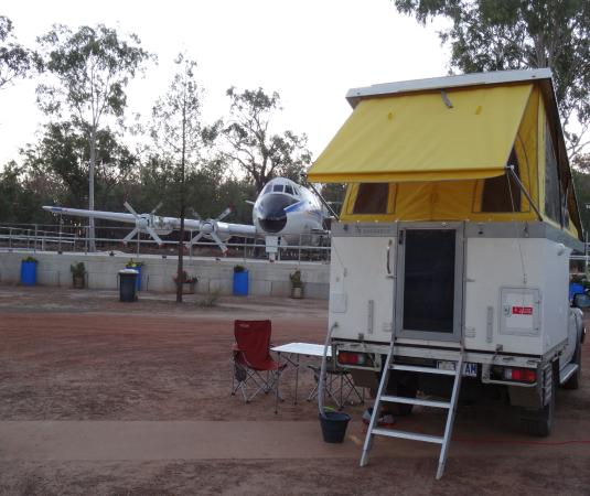 Possum Park: camping in the shadow of a TAA Viscount