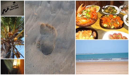 Barefoot Beach Camp and Restaurant: BARE YOUR FEET AND ENJOY COOL SAND