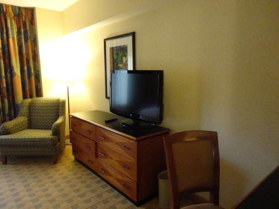 Doubletree Suites by Hilton Hotel & Conference Center Chicago / Downers Grove: Fernseher im Schlafzimmer