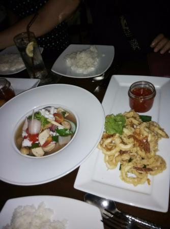 TawaNN: Tom yam seafood and deep fried squid