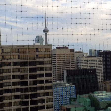 Canada Suites Toronto Furnished Rentals: The view of the CN Tower from our balcony