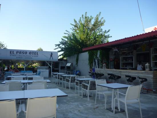Restaurant bar area picture of el paso otel for The garden pool el paso
