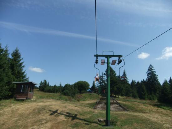 Seebach, Germany: Ski lift at the summer time
