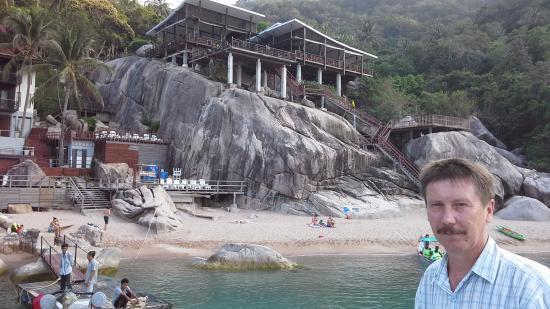 Ao Muong Resort: Ресторан на скале