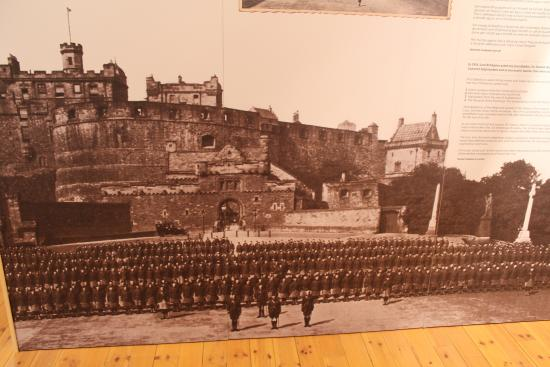 South Uist, UK: The battalion at Edinburgh Castle prior to departing to France