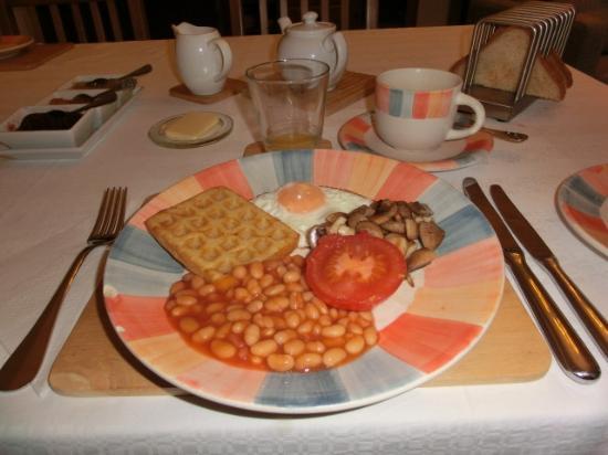 Killin Cottage B&B : 朝食/量を少なくしてもらってます