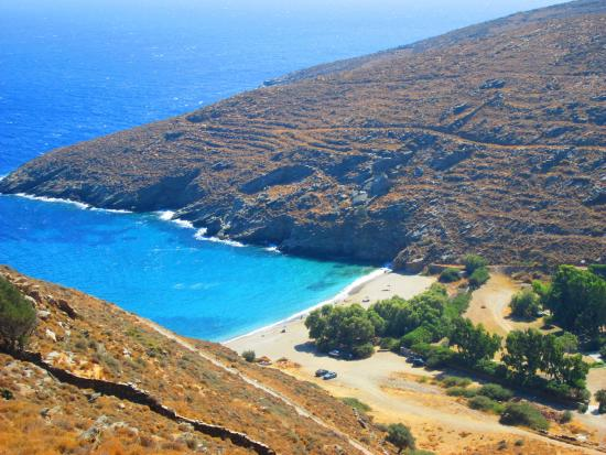 Kea, Greece: Sykamia Beach - upper view