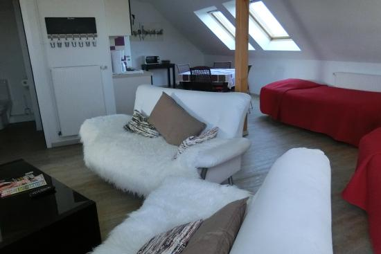 Hotel Des Bois : Studio/Ferienwohnung im Dachgeschoss mit 2 separaten Schlafzimmern