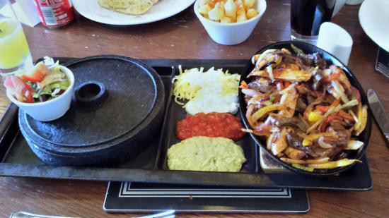 Mixed fajita main course