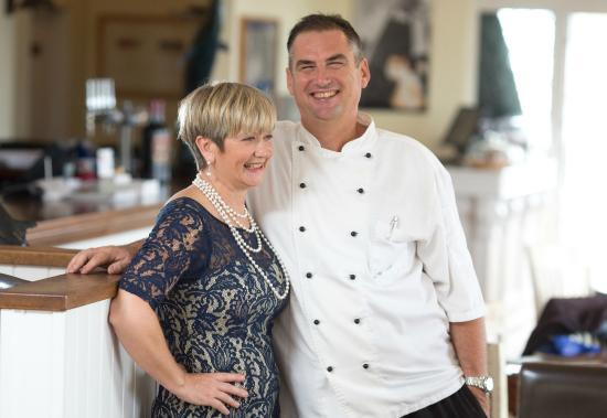 Beaucette Marina Restaurant & Bar: Proprietors James and Val Scowen welcome you to The Restaurant Beaucette Marina