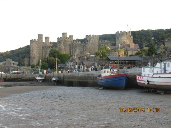 Conwy County, UK: view of the castle