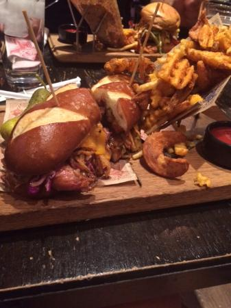 Pulled Pork Sandwich - Picture of Guy Fieri\'s Vegas Kitchen and ...