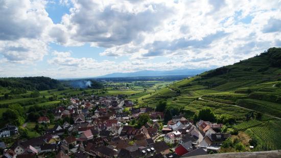 Achkarren vom Schneckenberg Blick Richtung Vogesen