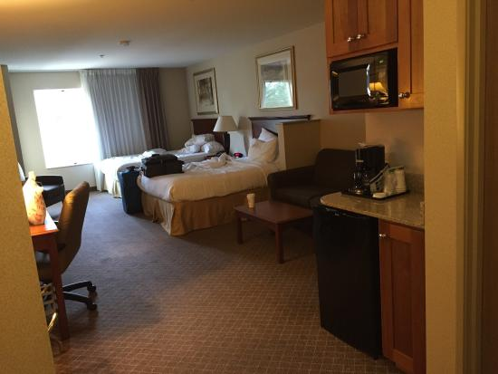 Holiday Inn Express Hotel & Suites Lacey: Spacious suite for our group of 3.