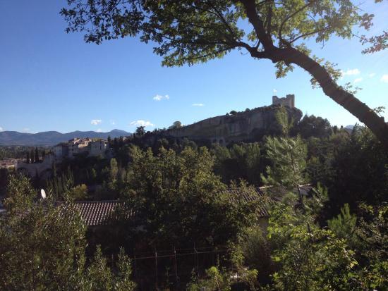Hotel Le Logis du Chateau: Vue depuis la terrasse de l'hôtel