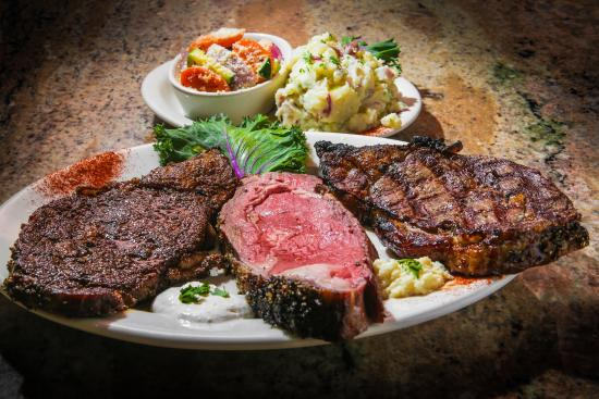 "Juicy's The Place with the Great Food: That Melt in your mouth Prime Rib ""Three Way's"