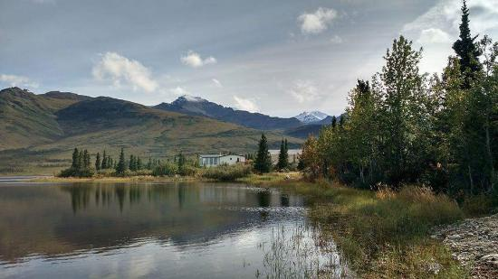 Healy, AK: View from the lake outside of room.