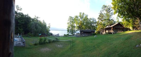 Alpine Village Resort: view of lake george from our cabin