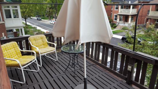 Ashbury House B&B: Balcon Habitación Rose