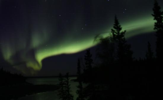 Yellow Dog Lodge Aurora over Duncan Lake Fri Sep 18 2015