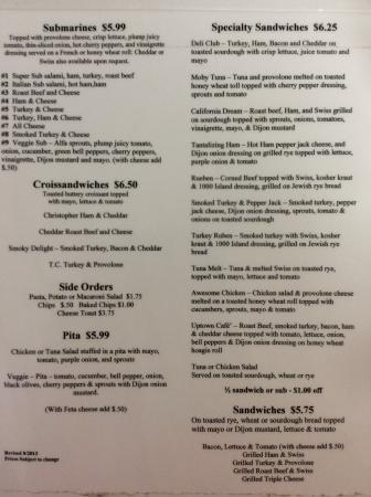 Tannery Downtown: Menus