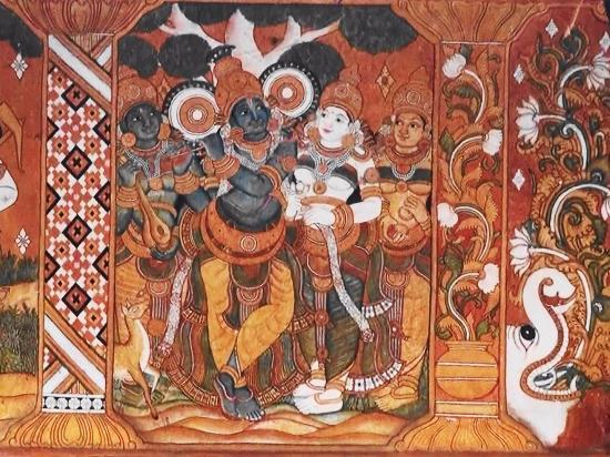 Painting guruvayur sri krishna temple picture of for Asha mural painting guruvayur
