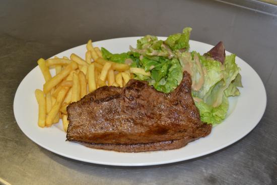 Café du centre : Le steak de Boeuf Charolais