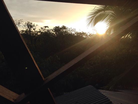 Hostal Camping la Y Griega: Levé de soleil vu du hamac !