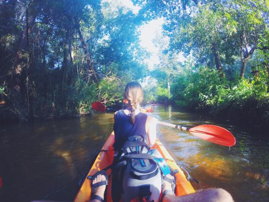 BeachnRiver Canoe and Kayak Rentals: kayaking down the river